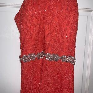 A cute long prom dress